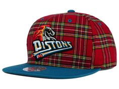 Detroit Pistons Mitchell and Ness NBA Plaid It Snapback Cap