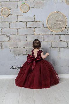 395f2140863 18 Best Flower Girl Dresses burgundy images