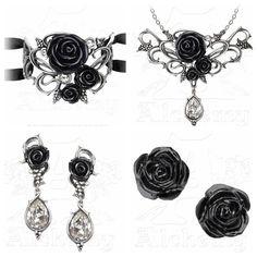 Alchemy Gothic anneau de roses Paire de Boucles dOreilles