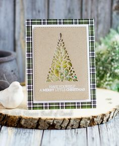 Merry Little Christmas Tree Shaker Card - SSS Believe Release
