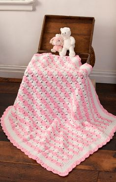 Peppermint Puff Baby Blanket: free pattern