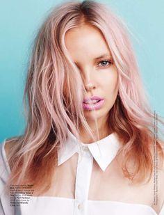 Strawberry blonde. #hair #pink