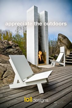 Modern Outdoor Chairs, Outdoor Rooms, Outdoor Living, Outdoor Decor, Outdoor Lounge, Outdoor Furniture, Modern Outdoor Fireplace, Modern Outdoor Kitchen, Porch Furniture