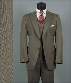 Vintage Three Piece Suit 1970s RICHMAN BROTHERS by jauntyrooster, $175.00
