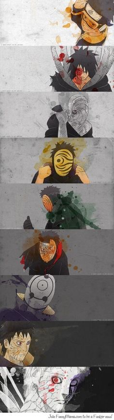 Obito's actions and choices are understandable. Even though they were wrong you can't completely blame him. Obito is Naruto, except Naruto had the will to never give in. Plus, Uchiha have the Curse of Hatred Naruto Uzumaki, Anime Naruto, Sasuke Sakura, Kakashi, Manga Anime, Madara Uchiha, Naruto Art, Gaara, Anime Characters