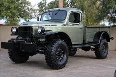 Between 1942 and the declaration of peace in Dodge built some T-model trucks (e. This chassis became the basis for the largely unchanged, civilian Power Wagon. These were job rated as WC for half ton and WD for one ton. Old Dodge Trucks, Jacked Up Trucks, Old Pickup Trucks, 4x4 Trucks, Diesel Trucks, Custom Trucks, Cool Trucks, Dodge Cummins, Lifted Cars