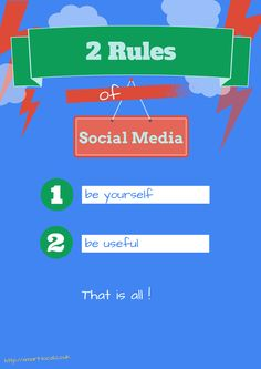 The only two rules for social media you really need