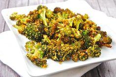 Roasted Parmesan Garlic Broccoli Recipe - 3 Points + - LaaLoosh