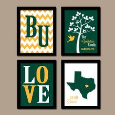 Baylor+University+College+Custom+Family+Monogram+by+trmDesign,+$35.00