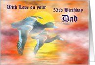 53rd Birthday / Dad - Age Specific - Mallard Ducks at Sunrise Card by Greeting Card Universe. $3.00. 5 x 7 inch premium quality folded paper greeting card. Birthday greeting cards & photo cards are available at Greeting Card Universe. Make your loved ones feel special with a custom paper card. Let Greeting Card Universe help you find the best Birthday card this year. This paper card includes the following themes: Happy Birthday, Dad, and Father. Greeting Card Univer...
