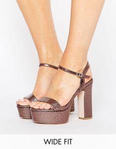ASOS HIGHER LOVE Wide Fit Platform Sandals