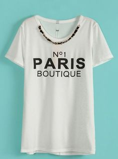 2fb1d9ff01 http://www.sheinside.com/White -Chain-Embellished-Neckline-PARIS-BOUTIQUE-Tee-p-114495-cat-1738.html