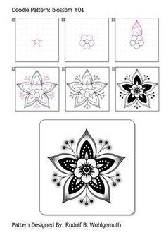 Afbeeldingsresultaat voor zentangle patterns step by step