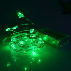 green christmas tree battery led copper string light