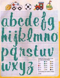 Fabinha Gráficos Para Bordados: Alfabeto