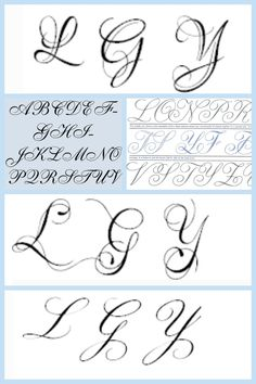 L G Y letters for my next tattoo which one to pick...