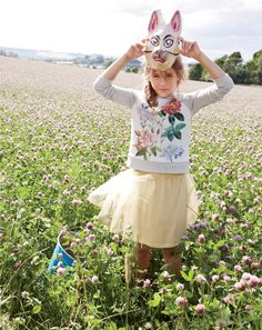 J.Crew garden floral baseball sweatshirt and tippy-toe tulle skirt.