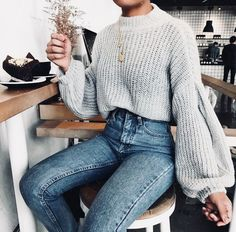 Jeans and sweaters