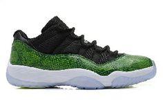 528895-033 Air Jordan 11 Low Green Snakeskin Black/Nightshade-White-Volt Ice for sale, order low snakeskin 11s $125.99 http://www.newjordanstores.com/