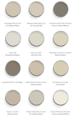 warm neutral paint colors. #color