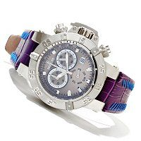 Invicta Women's Subaqua Noma III Quartz Chronograph Stainless Steel Leather Strap Watch ShopNBC.com