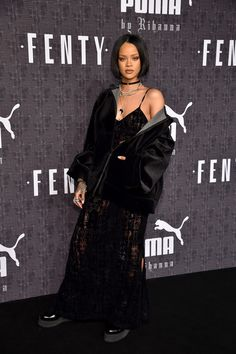 Rihanna Photos Photos - Rihanna attends the FENTY PUMA by Rihanna AW16 Collection during Fall 2016 New York Fashion Week at 23 Wall Street on February 12, 2016 in New York City. - FENTY PUMA by Rihanna AW16 Collection - Arrivals - Fall 2016 New York Fashion Week