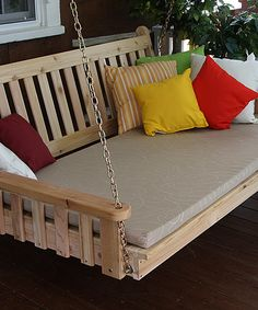 Unfinished Traditional English Swing Bed