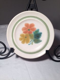 Vintage Franciscan Floral Earthenware Dessert by vintagepoetic, $8.00