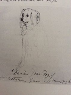 """The only thing Sir John Conroy did that Princess Victoria appreciated was to give her mother a King Charles spaniel, Dash. Victoria took him over immediately; when he died she buried him under the epitaph: Quotation reads """"If you would live beloved and died regretted profit by the example of DASH"""""""