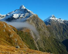 Milford Track is known as one of the most famous tracks in New Zealand and the world, for that matter. It is located in the southern part of the South Island in the mountains and forests of Fiordland National Park.