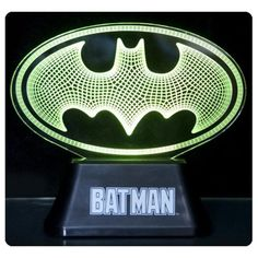The DC Comics Batman Edge Acrylic Light Lamp will light up your room with justice. This lamp Mood Light, Lamp Light, Batman Lamp, Best Family Board Games, Batman Gifts, Mood Lamps, Picture Boxes, Tempered Glass Shelves, Movie Props