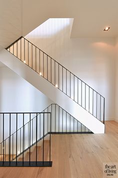 ignore railing (although I still love the vertical). looking at covered sides of stair treads. This is another image to help visualize. House Staircase, Open Staircase, Staircase Railings, Stairways, Stair Treads, Stairs To Loft, Modern Stair Railing, Modern Stairs, Railing Design
