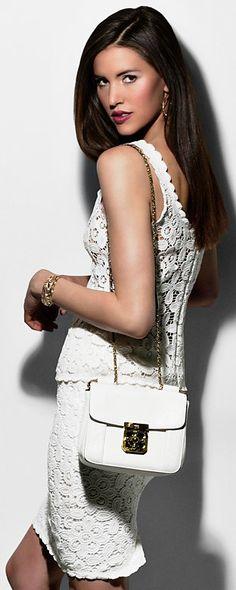 Intermix Floral Lace Pencil Skirt CF/C