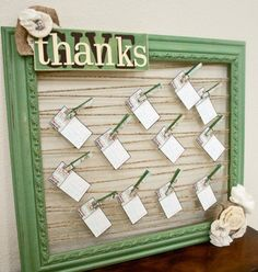 Guest Project — Make a Thanksgiving Blessing Board! Shop The Habitat Store for  Screw Eyes, Frame and other materials needed. Have a place for people to write down and display what they are thankful for at your gathering