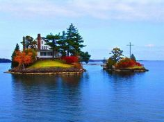 Fancy - Zavicon Island, Ontario, Canada (house) and Little Zavicon Island, New York, USA (the garden) - A Room With A View