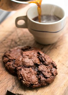 Ultra-delicious Chocolate Chocolate-Chip Cookie recipe packed with chocolate. There's a gluten-free variation too! Recipe from pastry chef David Lebovitz
