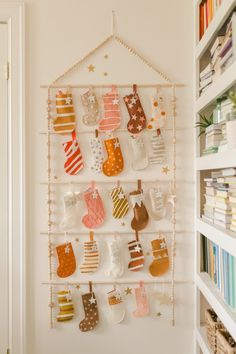 Heirloom Advent Calendar DIY - A Beautiful Mess Heirloom Advent Calendar DIY - A Beautiful Mess<br> I am so so so excited to share today's post! Our mom had an advent calendar when we. Advent Calendar Diy, Advent Calendars For Kids, Advent Calenders, Christmas Calendar, Calendar Ideas, Christmas Countdown, Homemade Advent Calendars, Christmas Crafts To Make, Noel Christmas