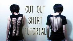 DIY Cut out shirt tutorial (Back to School)