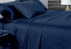 Made with premium cotton, this luxury sateen fitted sheet brings you an ultra soft feeling and irresistible comfort. Queen Size, King Size, Comfort Mattress, King Sheet Sets, Best Mattress, Navy Color, Luxury, Contents, Cotton
