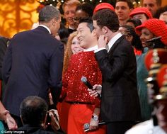 President Obama warmly greets PSY at the White House despite rappers anti-American vile lyrics