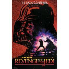 Revenge Of The Jedi - O Framed Poster Trends International, Star Wars Return of the Jedi Star Wars Logos, Star Wars Poster, Star Wars Jedi, Star Wars Art, All You Need Is, Star Wars Disney, Star Wars Watch, Unique Poster, Original Movie Posters