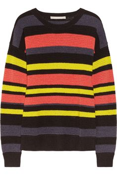 Jason Wu | Striped crochet-knit cotton-blend sweater | NET-A-PORTER.COM