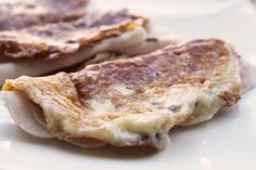 Crepes de queso y pechuga de pavo... 3 ingredientes y 10 minutos: muy fácil!