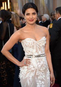 Actress Priyanka Chopra wears Lorraine Schwartz jewels on the red carpet of the 88th Academy Awards.