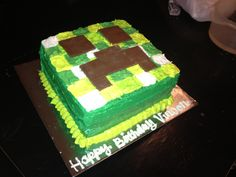 or this one- Easy minecraft birthday cake  minecraft party