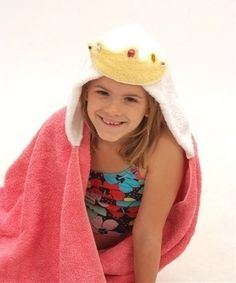 Princess children's hooded towel by Yikestwins on Etsy, $37.00