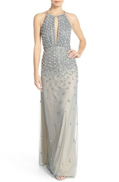 cbbe2d7e0 Adrianna Papell Embellished Tulle Column Gown