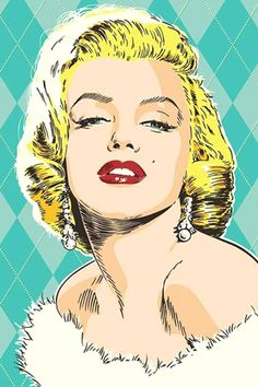 Image discovered by Zully Echeverria. Find images and videos about Marilyn Monroe and pop art on We Heart It - the app to get lost in what you love. Marilyn Monroe Kunst, Marilyn Monroe Artwork, Marylin Monroe, Retro Kunst, Retro Art, Retro Vintage, Arte Pop, Pop Art Bilder, Desenho Pop Art