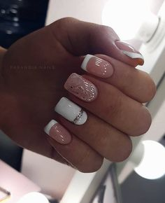 elegant nail designs for short nails - page 34 - Nägel - Nageldesign Elegant Nail Designs, Short Nail Designs, Cool Nail Designs, Acrylic Nail Designs, Square Acrylic Nails, Square Nails, Nail Manicure, My Nails, Nail Polish