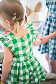'Kelly' Gingham Pinafore